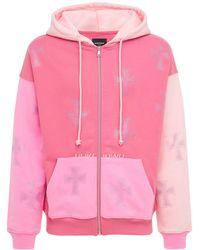 Unknown Hoodie Aus Baumwolle Mit Kristallen - Pink