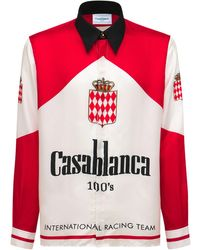CASABLANCA シルクツイルシャツ - マルチカラー