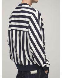 Sunnei Striped Cotton Fleece Sweatshirt - Multicolour