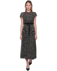 RED Valentino Платье Из Тюля С Вышивкой - Черный