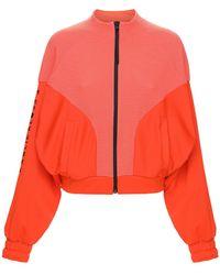 adidas Originals Karlie Kloss ジップアップスウェットシャツ - レッド