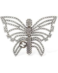 Gucci Butterfly Brooch - Metallic