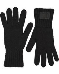 Prada - Handschuhe Aus Wollstrickripp - Lyst
