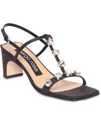 Sergio Rossi 60mm Embellished Glitter Sandals - Schwarz