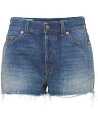 Gucci Shorts Aus Baumwolldenim - Blau