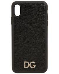 Dolce & Gabbana Iphone X/xs -cover Mit Logo - Schwarz