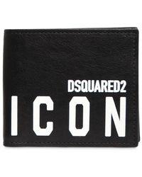 DSquared² - Portefeuille En Cuir Imprimé Icon - Lyst