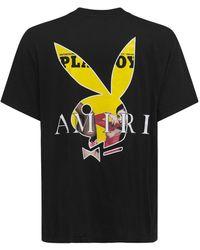 Amiri Playboy Cover コットンジャージーtシャツ - ブラック