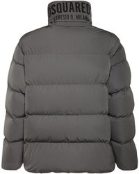 DSquared² Ceresio 9 Print Tech Down Jacket - Grey