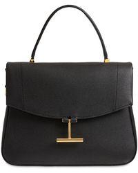 Tom Ford Leather Top Handle Bag - Black