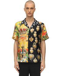 Dolce & Gabbana Printed Silk Bowling Shirt - Multicolour