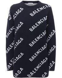 Balenciaga ウールニットセーター - ブルー