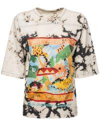 Stella McCartney - T-shirt Aus Bio-baumwolljersey Mit Tie Dye - Lyst