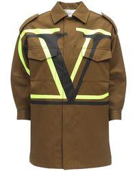 Valentino Пиджак Из Хлопкового Канваса - Многоцветный