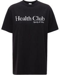 Sporty & Rich Health Club Tシャツ - ブラック