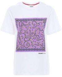 Emilio Pucci T-shirt In Cotone Con Stampa - Bianco