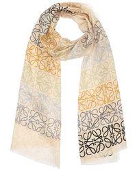 Loewe Schal Aus Wollmischung - Mehrfarbig
