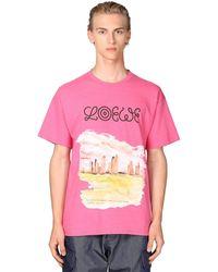 Loewe Eye//nature コットンジャージーtシャツ - ピンク