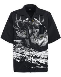 DIESEL Loose コットンシャツ - ブラック