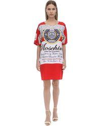 Moschino Платье-футболка С Принтом - Красный
