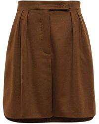 Max Mara キャメルミニスカート - ブラウン