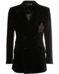Dolce & Gabbana ベルベットジャケット - ブラック