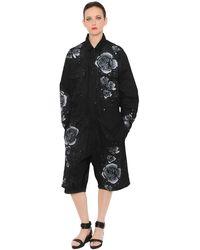 Marna Ro Jumpsuit De Sarga Con Diseño Pintado Con Spray - Negro
