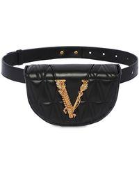 Versace Кожаная Сумка На Пояс - Черный