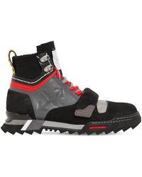 Off-White c/o Virgil Abloh Sneakerstiefel Aus Leder - Schwarz