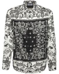 Versace Jeans Couture Bandana コットンシャツ - ブラック