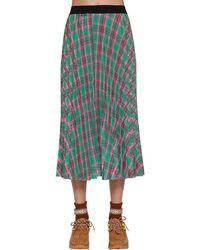 Moncler ナイロンプリーツスカート - グリーン