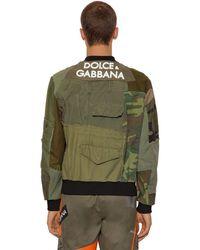 Dolce & Gabbana Jacke Mit 3d-logo Mit Patchwork - Grün