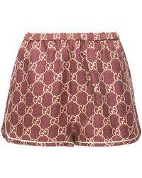 Gucci シルクツイルショートパンツ - レッド