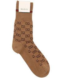 Gucci - Calcetines De Algodón Con Logo - Lyst