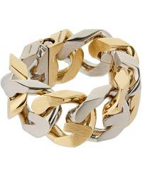 """Givenchy Bracelet Chaîne Bicolore """"g"""" - Métallisé"""