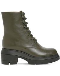 Stuart Weitzman Ботинки Из Кожи 30мм - Зеленый