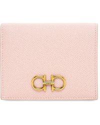 Ferragamo Kartenhülle Aus Leder - Pink