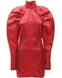 ROTATE BIRGER CHRISTENSEN Платье Из Люрекса Lvr Exclusive Kim - Красный