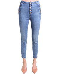 "J Brand Jeans Skinny Stretch Taille Haute ""Natasha"" - Bleu"