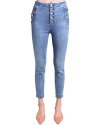 "J Brand Enge Jeans Aus Stretch ""natasha"" - Blau"