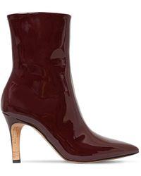 Maison Margiela 90mm Patent Leather Ankle Boots - Multicolour