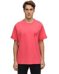 Neil Barrett - Cotton Jersey T-shirt W/ Logo Patch - Lyst