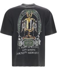 "Represent Camiseta Oversize ""fallen Spirit"" De Algodón - Negro"
