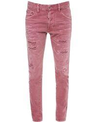 """DSquared² Jeans Aus Stretch-denim """"dan"""" - Pink"""