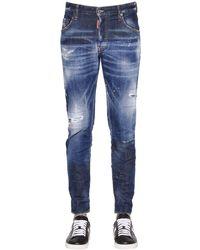 "DSquared² Jeans ""skater"" De Denim De Algodón 16cm - Azul"