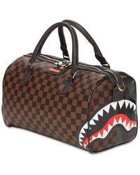 Sprayground Check & Camo Mini Duffle Bag - Brown