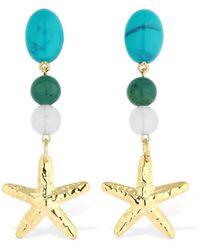 RIXO London Starfish マルチジェムピアス - ブルー