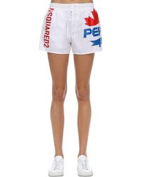 DSquared² Pepsi Print Swim Shorts - White