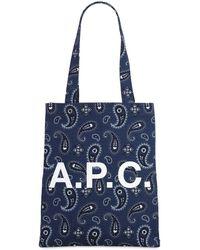 A.P.C. コットントートバッグ - ブルー