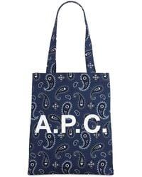 A.P.C. - コットントートバッグ - Lyst